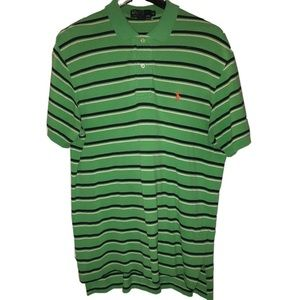 Polo by Ralph Lauren Green w/ Black & White Stripe